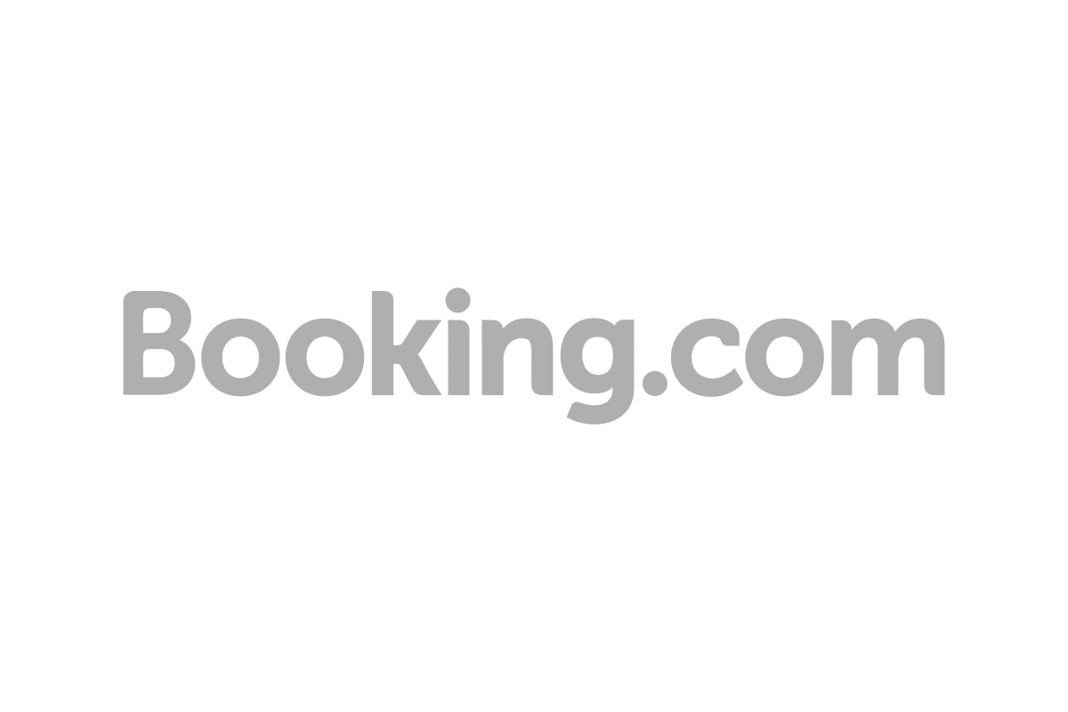 booking.com logo grey scale