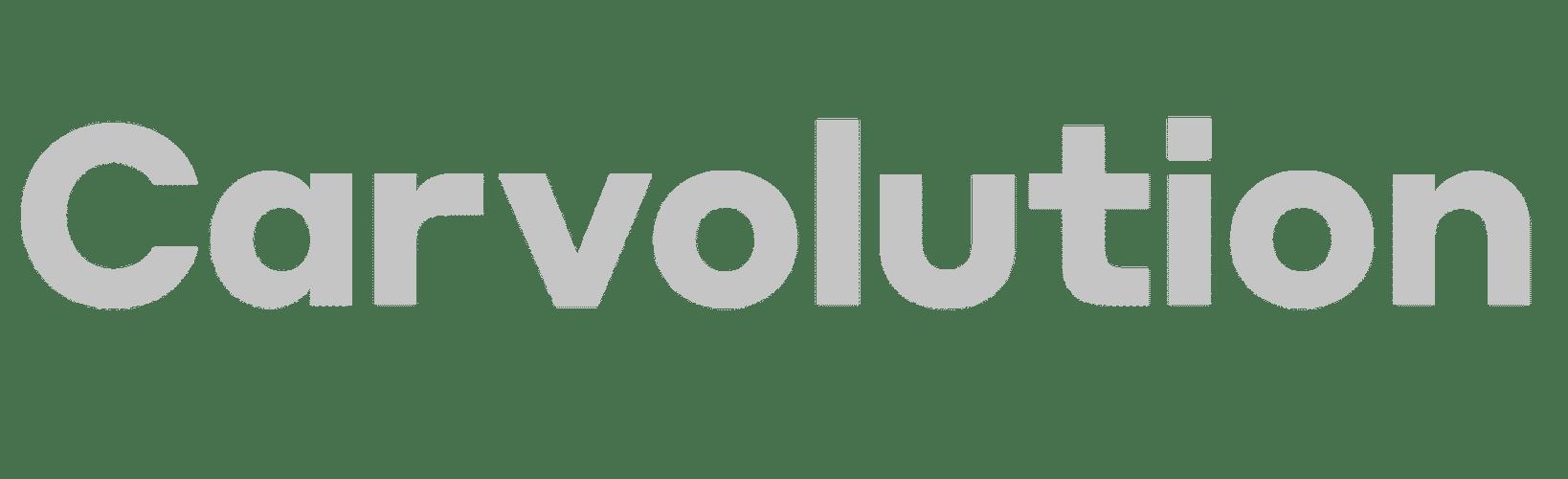 carvolution logo grey scale