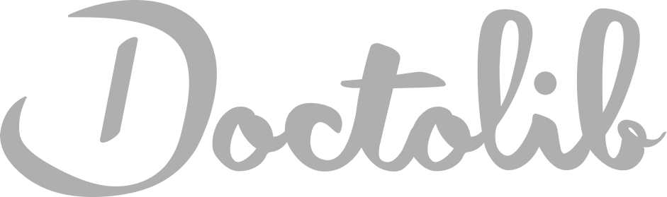 doctolib logo grey scale
