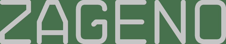 zageno logo grey scale