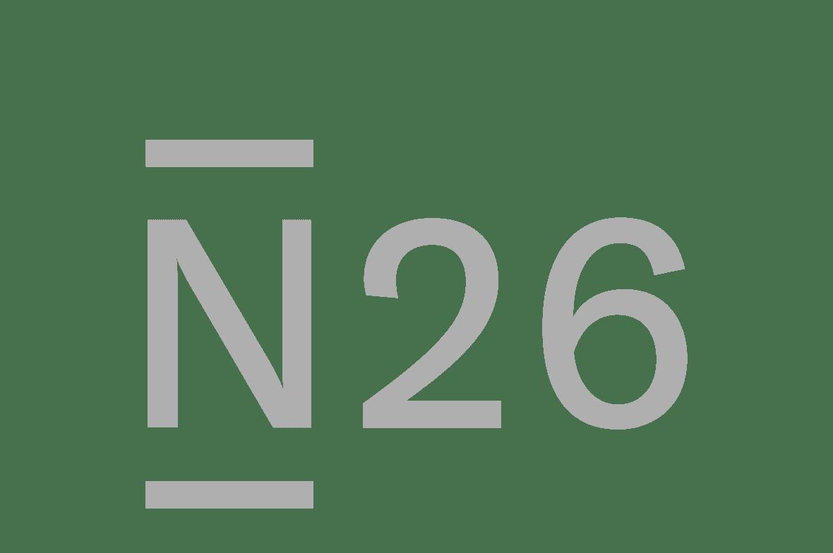 n26 logo grey scale