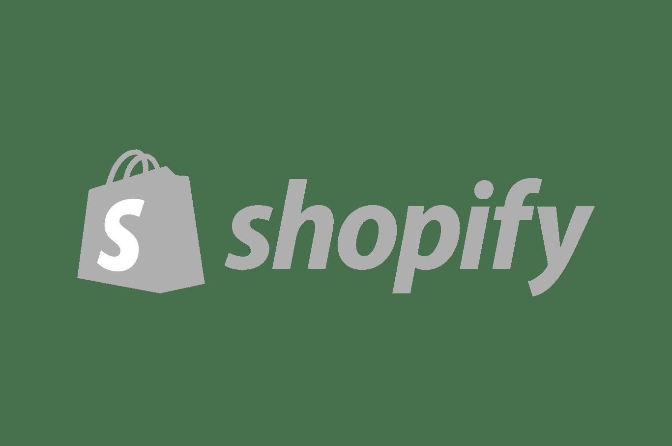shopify logo grey scale
